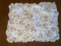 1 SIMPLY SHABBY CHIC DOLCE Standard Size Pillow Sham Ruffle 30x23 White Floral