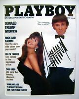 DONALD TRUMP Signed 1990 Playboy Magazine REPRINT of PHOTO / MINT