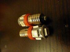 12v E10 SMD 5050 5 LED Rojo Brillante Bombilla MES Tornillo Linterna x 2