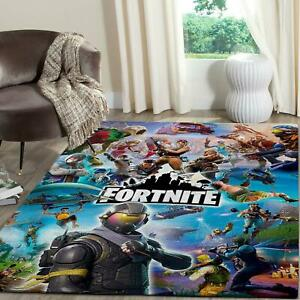 Fortnite Game Area Rug Rectangle Rug For Gamers
