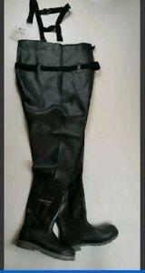 Dunlop Men's Steel Toe Chest Waders - Black, Sizes 8,10,11,12,13,14