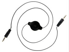 3.5mm Audio Cable Retractable Auxiliary Cord Cable For iPod Car Mp3 Black New