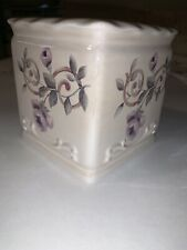 Croscill Chambord Ceramic Tissue Box Holder Cover Floral New Fast USPS Ship