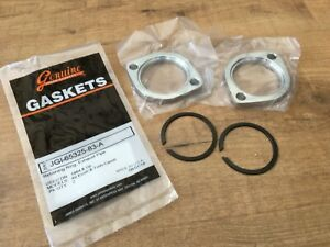 2 x Harley-Davidson Sportster Dyna Softail Touring Exhaust Header Flange Clamps