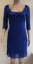 NEW New Look Blue Lace Dress Size 14  #R1