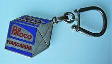 Ancien porte clé métal Margarine BLOCO, années 60.