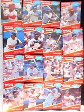 1991 Mootown Snackers Signature Series Lot of 16 Different Player Cards NEW!