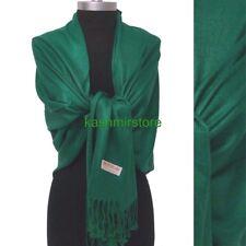 NEW Women Solid 100%Pashmina Wrap Cashmere Wool Shawl/Scarf Soft Sea Green NR