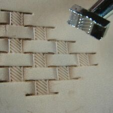 Leather Stamping Tool - #X500-2 Basket Weave Stamp