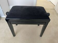 More details for mint classic piano stool height adjustable high gloss black finish hardly used