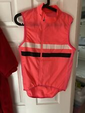 RAPHA Mens Brevet Pink Lightweight Cycling Gilet. No Pockets. Size M