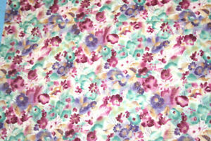 RAINBOW GARDEN IN MAROON,M TURQUOISE AND WHITE FROM HOFFMAN - 100% COTTON FABRIC