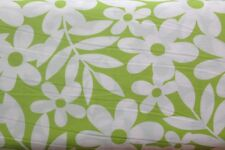 0.5 metre Daisy Print (Lime) 100% Cotton Fabric 145cm wide
