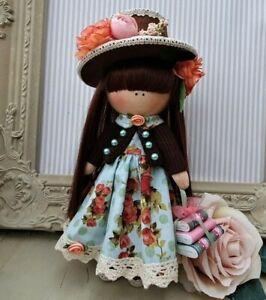 Rag doll handmade in the UK Tilda doll Ooak doll Art doll AGATHA 8 inch tall