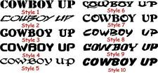 Cowboy up window decal rodeo roping FREE SHIPPING!!!!!
