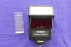 Minolta Program Flash 2800AF with Case, Manual & Diffuser for 5000,7000,9000