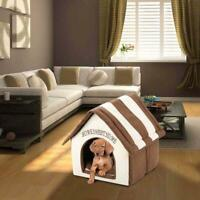 Household Kennel Dog House Small Pet Cat Kitty Soft Warm Cozy Portable Pet Bed