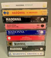 (9) MADONNA Cassette Tape Lot: Virgin,True Blue,Like A Prayer,Erotica - EX