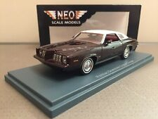 █▓▒★ 1/43 PONTIAC GRAND AM 2 DOOR COUPE 1973 BORDEAUX NEO 44755 NEUVE ★▒▓█
