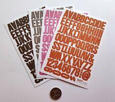 NO 180 Scrapbooking - 200+ Small Alphabet / Letters Stickers - Scrapbook
