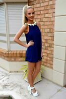 Casual Long Cocktail Maxi Womens V Neck Dress Party Evening Dresses Short Sleeve