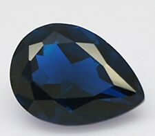 1.5 ct Sapphire Pear New Vintage Genuine Corundum Swiss Made Synthetic 9 x 6 mm