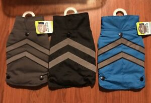 NWT TOP PAW 2 IN 1 REFLECTIVE DOG COAT VEST JACKET GRAY BLACK OR BLUE FREE S&H!!