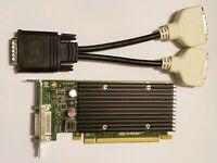 NVIDIA PNY NVS 300 Dual Monitor DVI or VGA Graphics Video Card HP Dell SFF GPU