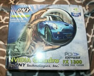 NEW PNY Nvidia Quadro VCQFX1300-PCIE 128MB DDR SDRAM Graphics Card  NIB Sealed