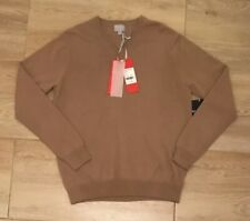PURE COLLECTION, 100% Cashmere V Neck Sweater, Camel, Size M, RRP £180 BNWT