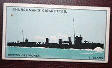 Royal Navy  L Class Destroyer Silhouette  Original 1915 Identification Card
