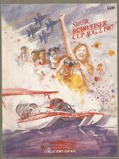 1987 Budweiser Cup Unlimited Hydroplane Race Program