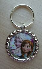 ANNA & ELSA  Disney's FROZEN, Bottle Cap on Key Ring