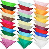 DQT Handkerchief Hanky Plain Satin Mens Wedding Accessories FREE Pocket Square