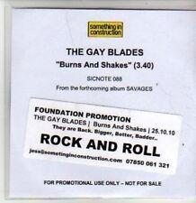 (BT816) The Gay Blades, Burns And Shakes - DJ CD