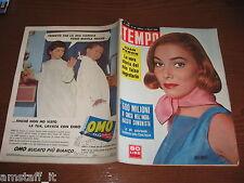RIVISTA TEMPO 1956/10=MAY BRITT=JUAN PERON=DANIELE BARIONI=PORNASSINO ORMEA=