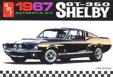AMT 1/25  '67 1967 Shelby GT-350 Mustang Plastic Model Kit #800  Molded in WHITE