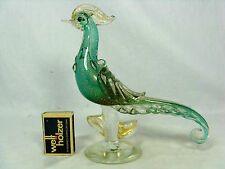 Beautiful  Salviati & Co. Murano glass bird Italy # Glas Vogel original label