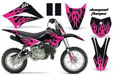 KLX110 Kawasaki Graphic Kit AMR Racing Decal Sticker Kawi Part 2010-2013 FLAME K