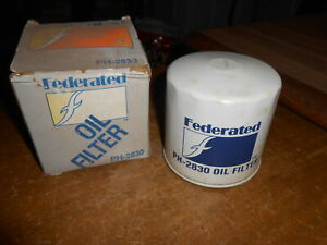 Vintage NOS Federated Oil Filter 1979 - 1987 Datsun Porsche Audi PH-2830