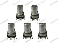 Rotary Impulse Shaft Encoder Push Button Switch x5 Pack