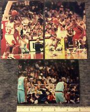 3 GAME TAKEN ORIGINAL VINTAGE SNAP SHOTS of  MICHEAL JORDAN SHAQ 1990s   #115c