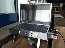 NEW PORTABLE CAMPING GAS BBQ GRILL 430 STAINLESS STEEL BARBEQUE
