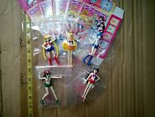 Bandai sailor moon mini figure gashapon 5 pcs mercury jupitar venus mars open