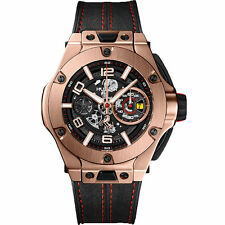 Hublot Big Bang Ferrari 45mm Unico King Gold Men's Wristwatch