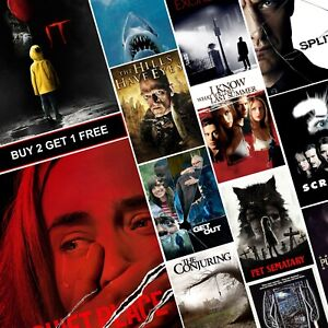 Best Horror Movies Classic Posters A4 A3 Prints Art Halloween Alien Quite Place