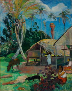 Paul Gauguin The Black Pigs Giclee Art Paper Print Poster Reproduction