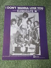 KANDIDATE I don't want to lose you 1970s SHEET MUSIC!