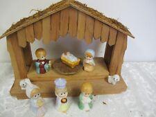 MUSICAL NATIVITY REVOLVING BABY JESUS HOUSE OF LLOYD MANGER PORCELAIN FIGURES