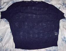 Pullover manica corta Fiorella Rubino blu.